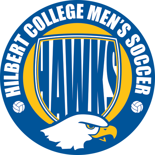 Hilbert College Mens Soccer Logo designed by Kirk Love